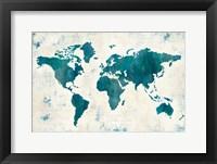 Framed Discover the World Blue