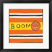 Framed Halloween Boo Pumpkin