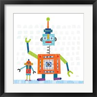 Framed Robot Party III on Square Toys