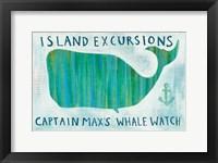 Framed Ahoy I What Sign Blue Words