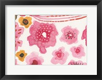 Framed Pink Flower Power