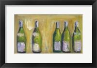 Framed French Wine Bottles