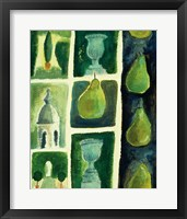 Framed Pears Topiary
