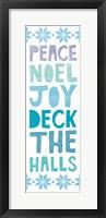 Framed Deck the Halls Words