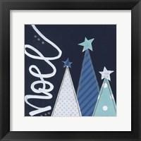 Framed Navy Trees Noel
