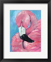 Framed Pink Flamingo