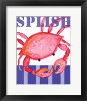 Framed Splish Crab