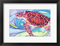 Framed Surfin' Turtle