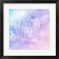 Framed Unicorn Wishes