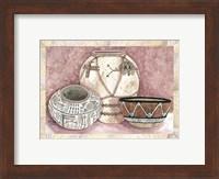Framed Southwest Pottery