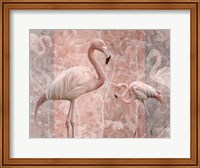 Framed Pink Flamingo Birds