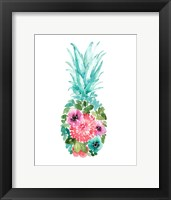 Framed Floral Pineapple I