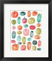 Framed Bright Pumpkins 300