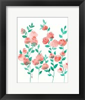 Framed Peach and Mint