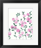 Framed Pink Flowers