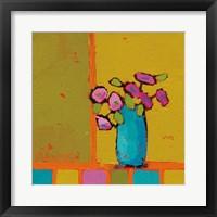 Framed Turquoise Vase