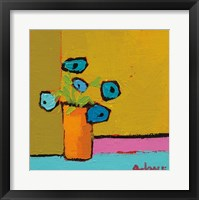 Framed Orange Vase