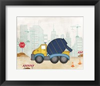 Framed Cement Truck