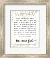 Framed Love Is Patient