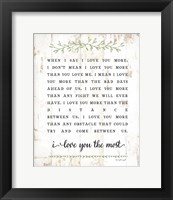 Framed I Love You More