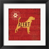 Framed Alert Dog