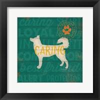 Framed Caring Dog