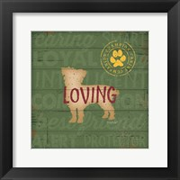 Loving Dog Framed Print
