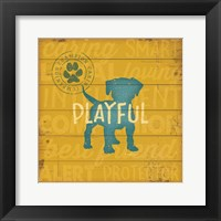 Playful Dog Framed Print