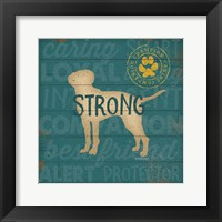 Strong Dog Framed Print