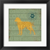 Framed Unconditional Love Dog