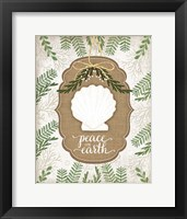 Framed Coastal Christmas Peace