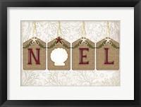 Framed Coastal Christmas Noel