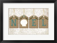 Framed Coastal Christmas Noel II