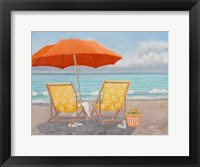 Framed Orange Beach Umbrella