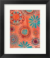 Framed Bohemian Flowers
