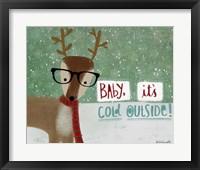 Framed Cold Hipster Reindeer