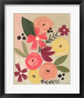 Framed Vintage Flowers
