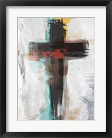 Framed Contemporary Cross I