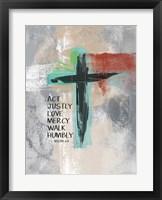 Framed Micah 68 Cross