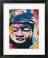 Framed Painted Buddha