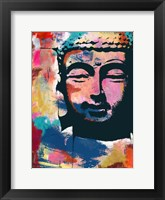 Framed Painted Buddha II