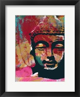 Framed Painted Buddha IV