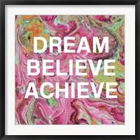 Framed Dream, Believe, Achieve