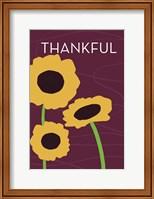 Framed Thankful Sunflower