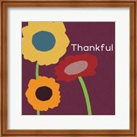 Framed Multicolor Thankful