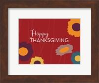 Framed Multicolor Happy Thanksgiving