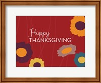 Framed Multicolor Happy Thanksgiving