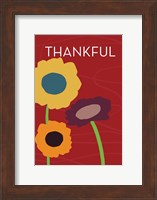Framed Multicolor Thankful on Red