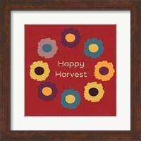 Framed Happy Harvest on Red