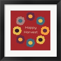 Framed Happy Harvest on Red